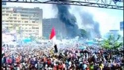 据报开罗抗议营地至少25人死亡