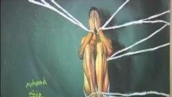 نقاشی های نوجوان فلسطینی رنج جنگ را به تصویر می کشد