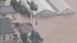 日本北部河水氾濫 數十人被困