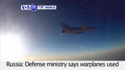 VOA60 World - Russian Planes Conduct More Syria Airstrikes From Iran