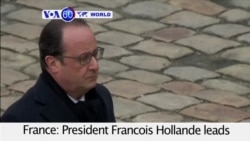 VOA60 World - At Paris Memorial, Hollande Vows To Crush 'Army Of Fanatics'