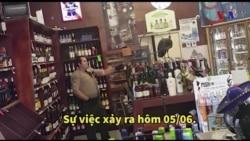 Chim công 'đại náo' tiệm bán rượu