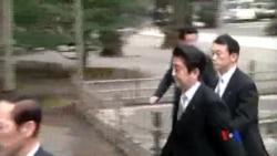 """2014-08-27 美國之音視頻新聞: 安倍晉三以""""個人名義""""向甲級戰犯致哀"""