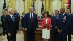 ԱՄՆ-ի նախագահն ու փոխնախագահն իրականացրել են Օդային ուժերի աշխատակազմի առաջին սևամորթ ղեկավար Չարլզ Բրաունի երդմնակալության արարողությունը: