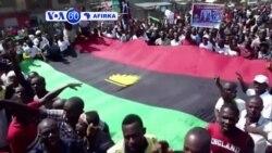 VOA60 AFIRKA: Najeriya Daruruwa Sun Yi Zangazanga Akan A Saki Wani Dan Gwagwarmayar Neman A Kafa Janhuriyar Biafra, Nuwamba 19, 2015