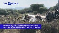 VOA60 World PM - No Deaths in Aeromexico Jet Crash