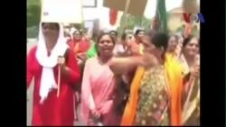Cảnh sát Ấn Độ xịt vòi rồng giải tán người biểu tình chống cưỡng hiếp