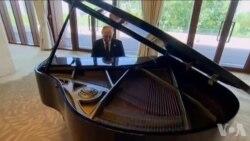 Serokê Rûsya Vladimir Putin Pianoyê Lêdixe