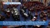 VOA60 America - US Senate Republicans Block Democrats' Voting Rights Bill