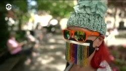 Вуалетки пандемии: дизайнеры Нью-Йорка предлагают безотходные маски