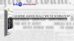 VOA60 Elections- Can Bernie Sanders come back to win the Democratic nomination?