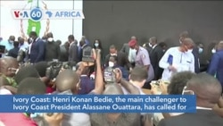VOA60 Afrikaa - Henri Konan Bedie, a challenger to Ivory Coast President Ouattara, has called for protests