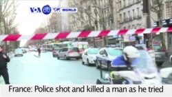 VOA60 World PM - Paris Police Thwart Attack on 'Charlie Hebdo' Anniversary