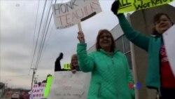 2018-02-27 美國之音視頻新聞:西維州教師罷課抗議低薪 全州學校停課