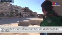 Kamışlı'da Kürtlerle Rejim Arasında Çatışma