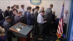 白宮因限制參加簡報會記者人數而受到抨擊