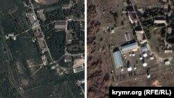 На правому знімку видно нову радіотехнічну станцію, що з'явилася поблизу Севастополя за останні чотири роки