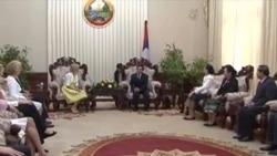 Dr. Jill Biden visit Laos (Lao National Television)