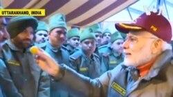 ԱՌԱՆՑ ՄԵԿՆԱԲԱՆՈՒԹՅԱՆ. Հնդկաստանի վարչապետը տոնում է Դիվալի տոնը զինվորների հետ