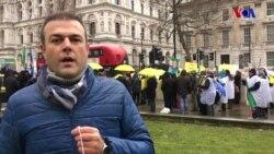 İran Protestolarına Destek Londra'da Devam Ediyor