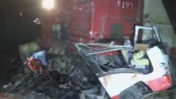 埃及一列火車與汽車相撞 24人喪生