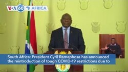 VOA60 Afrikaa - South Africa reintroduces COVID-19 restrictions