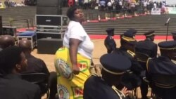 Woman Dances At National Heroes Acre in Harare