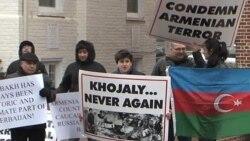 Ադրբեջանցիների ցույցը` Վաշինգտոնում ՀՀ դեսպանատան առջեւ