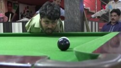 ہاتھوں سے محروم اسنوکر کا پاکستانی کھلاڑی
