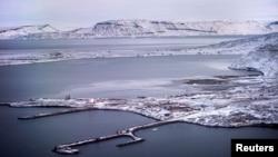美國空軍在格陵蘭島最北端的圖勒空軍基地。(2019年10月8日)