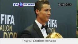 Cristiano Ronaldo giành giải Qủa bóng vàng (VOA6)