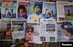 La prensa mundial despidió también a Maradona.