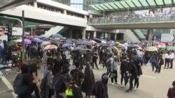 示威者週二再度發起行動,香港多地爆發激烈衝突