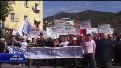 Protestë e minatorëve në Fushë Arrëz