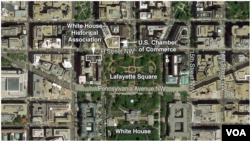 The White House and surrounding areas