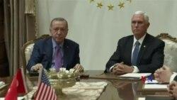 2019-10-18 美國之音視頻新聞: 儘管達成停火協議 敘利亞東北部戰鬥仍在繼續