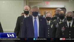 Presidenti Trump, për herë të parë me maskë në publik