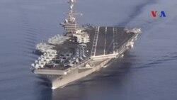 Bộ trưởng Quốc phòng Mỹ thăm hàng không mẫu hạm ở Biển Đông