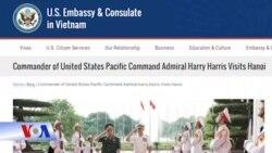 Tư lệnh Bộ Chỉ huy Thái Bình Dương của Mỹ thăm Việt Nam