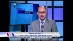 Syria loan báo thỏa thuận ngừng bắn toàn quốc