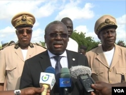 Cameroon's minister of livestock, known only as Dr. Taiga, speaks in Maroua, Cameroon, July 11, 2019. (M. Kindzeka/VOA)