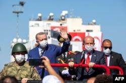 20 Temmuz törenlerine katılmak üzere Lefkoşa'ya giden Cumhurbaşkanı Recep Tayyip Erdoğan