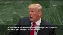 "Trump: En Venezuela se vive ""una tragedia humana"""