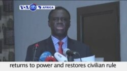 VOA60 Africa - Burkina Faso president regains power one week after military coup - September 23, 2015