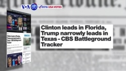 VOA60 Elections - CBS News: Hillary Clinton has a three point lead over Donald Trump in Florida