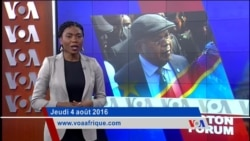 Washington Forum du 4 août 2016: Situation politique en RDC