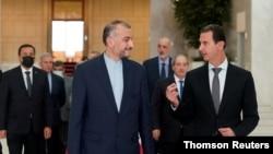 دیدار وزیر خارجه جمهوری اسلامی ایران با بشار اسد، روز یکشنبه در دمشق