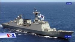 Tàu chiến Hàn Quốc đến gần Hoàng Sa