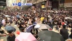 VOA60 Duniya: 'Yan Sanda a Hong Kong Sun Hargitsa 'Yan Zanga-Zanga, Satumba 29, 2014