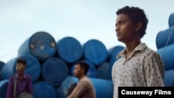 "Screenshot shows actor Sarm Heng as rural Cambodian boy Chakra in the film, ""Buoyancy."" (Courtesy: Causeway Films)"